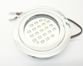 12V UNSWITCHED SHINY SILVER LIGHT 21 LEDS  LED  RECESSED 1.2W RHAPSODY